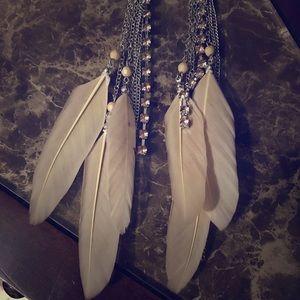Feathered Gem Earrings